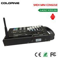 Precio Envío gratuito con DHL, gran oferta, 54CH, consola inalámbrica dmx con batería de 9V alimentada para controlar la luz led de escenario