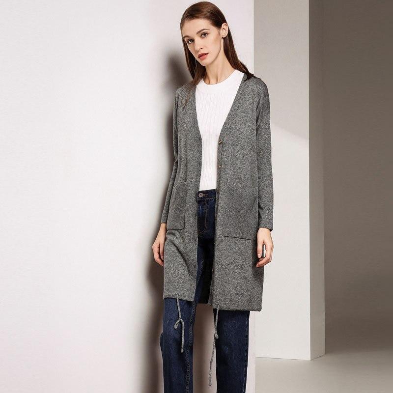 2018 automne nouveau modèle costume-robe facile mince chandail lâche manteau couvert à manches longues tricot non doublé vêtement supérieur Cardigan