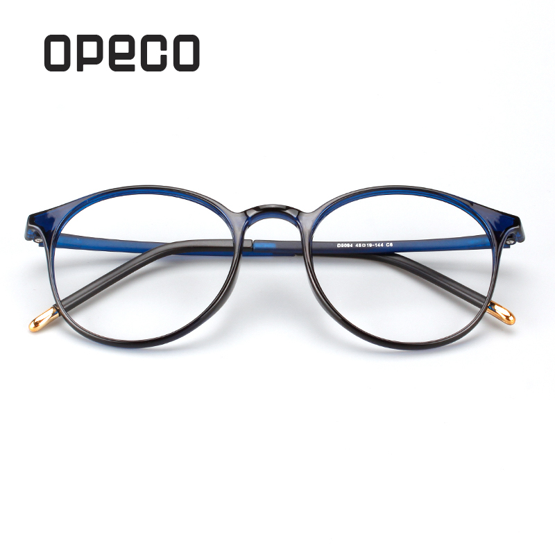 Opeco Men's Big Eyewear Including Prescription Lenses RX Eyeglasses TR90 Frame RX Recipe Male Spectacles D9094