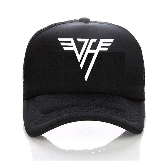 f9996fea43d Van Halen baseball cap student couples Caps Van Halen LOGO Mesh cap hip hop  Hat New fashion hats men and women sun hat
