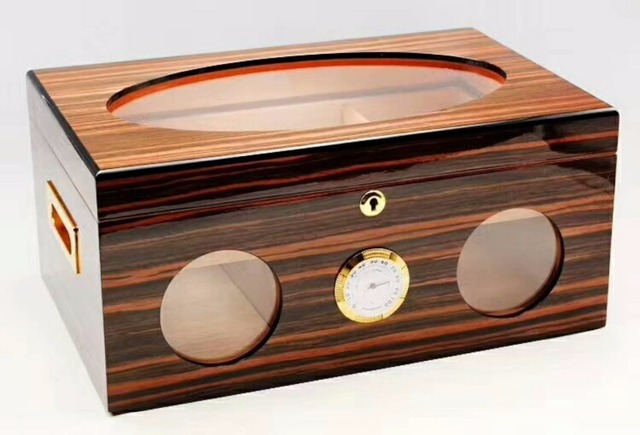 Wooden Red Color Cigar Humidor Classic Wood Storage Box