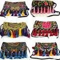 New Arrival national Handmade flower Embroidered bags Vintage women Tassel shoulder messenger bags Ethnic small handbags