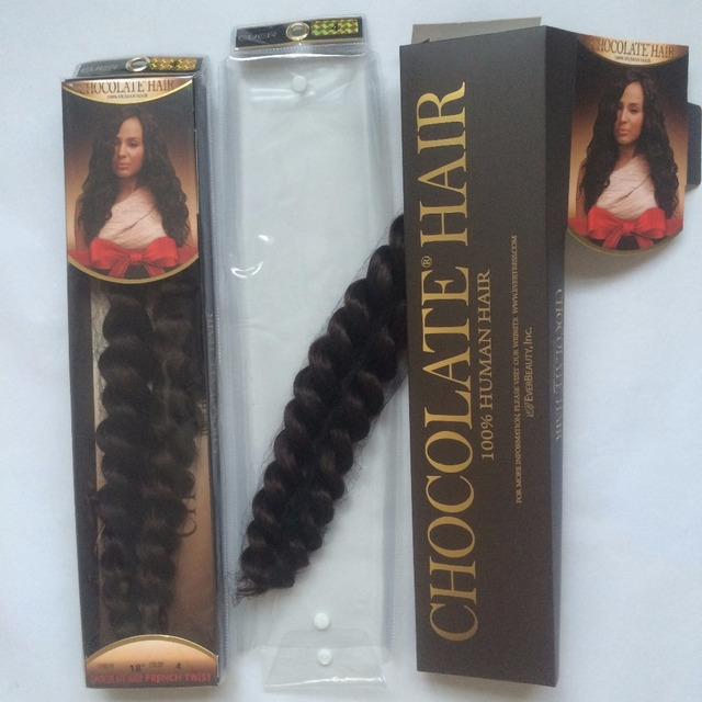 10packs New Chocolate French Twist Curl 100 Remy Brazilian Real