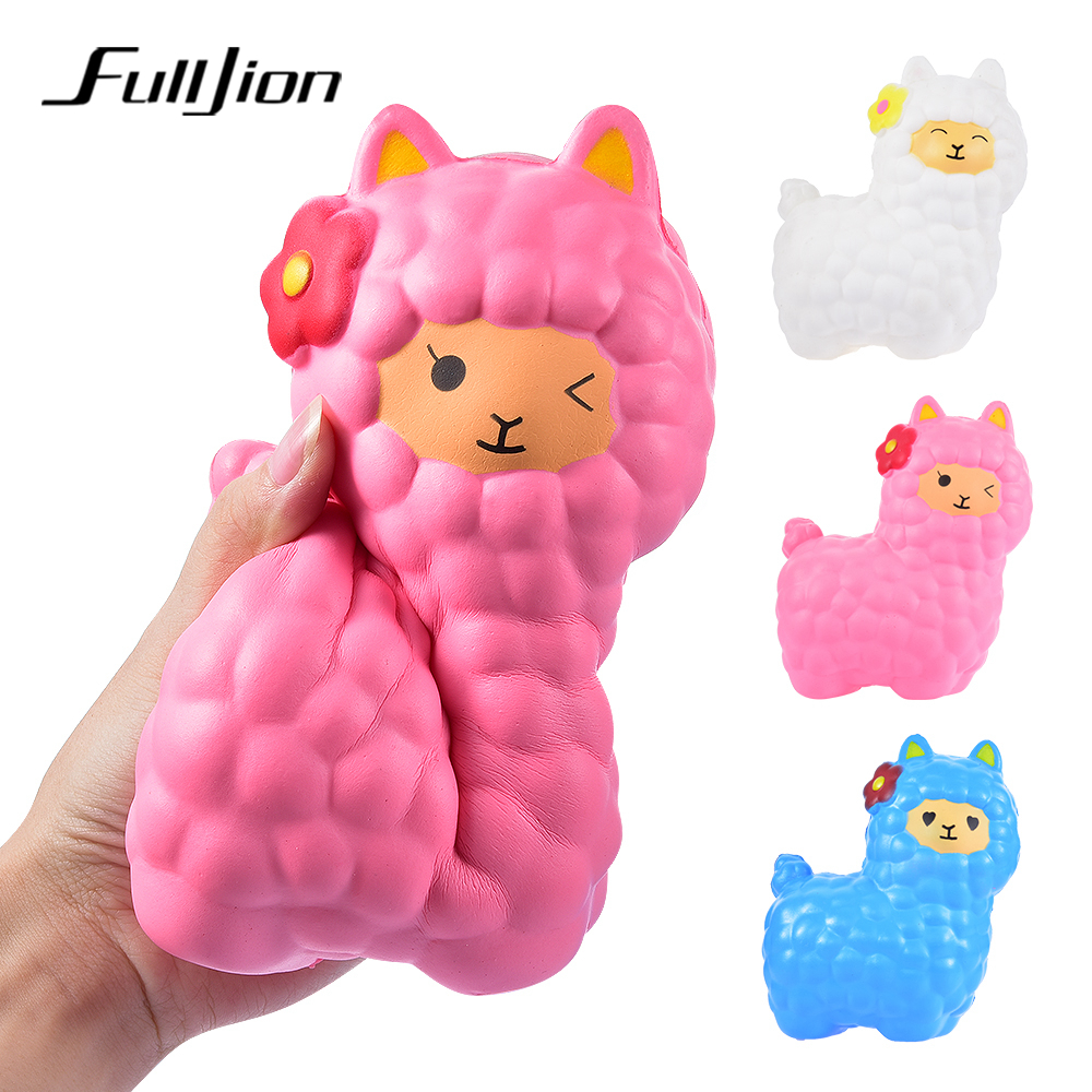 Fulljion Squishy Alpaca Slow Rising Antistress Squishe Toys jumbo Fun Gadget Squisy Stress Relief Toy Girls Gags Practical Jokes цена 2017
