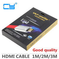 Cable Hdmi 2 0V New Fashion HDMI Flat Cable 3D 1080P 2Kx4K Golden High Quality 5M