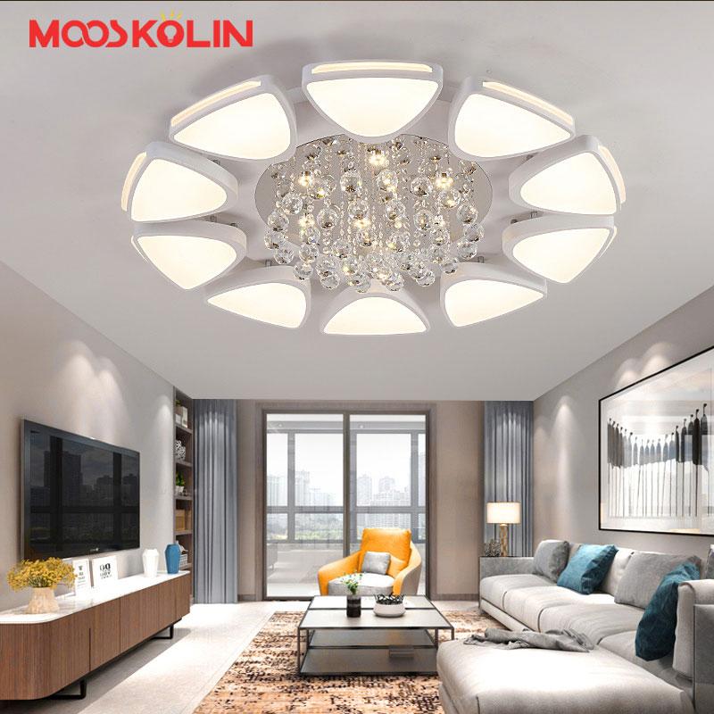 110 09 35 De Reduction K9 Plafond Led Cristal Lumiere Telecommande Gradation Salon Chambre Luminaires Moderne Plafonnier Luminaire Lustre Avize In
