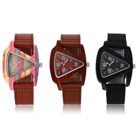 ALK Wood Watch Women Ladis Watches 2018 Leather Strap Wooden Female Male Wrist Watch Quartz Wristwatch