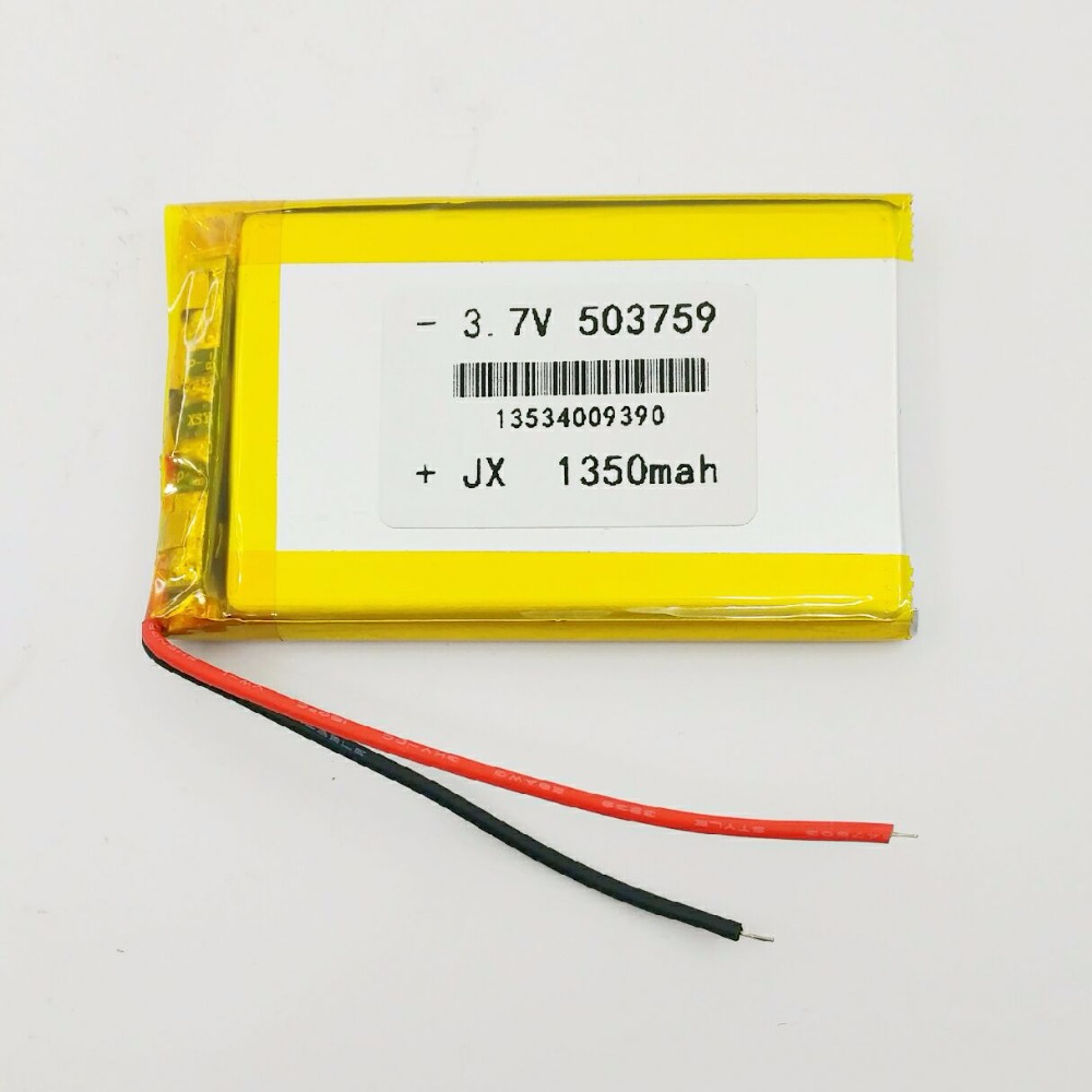 503759 1350 MAH 3 7V lithium ion battery charging battery driving recorder electric toys intelligent home products universal in Replacement Batteries from Consumer Electronics