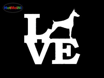 Hotmeini New Arrival Doberman Pinscher Love Sticker For