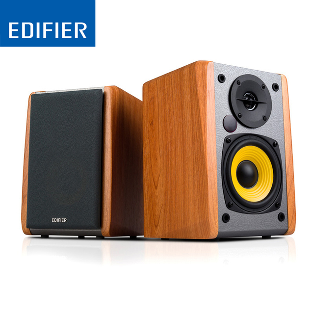 EDIFIER R1010BT Wood Bluetooth Speaker for TV Home Theatre System Wireless with Medium-Density Fiberboard Active 4″ bass driver