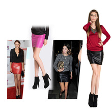 JSMY Office Lady Women Straight Leather Skirt Sexy Fashion High Waist Pencil Bodycon Mini