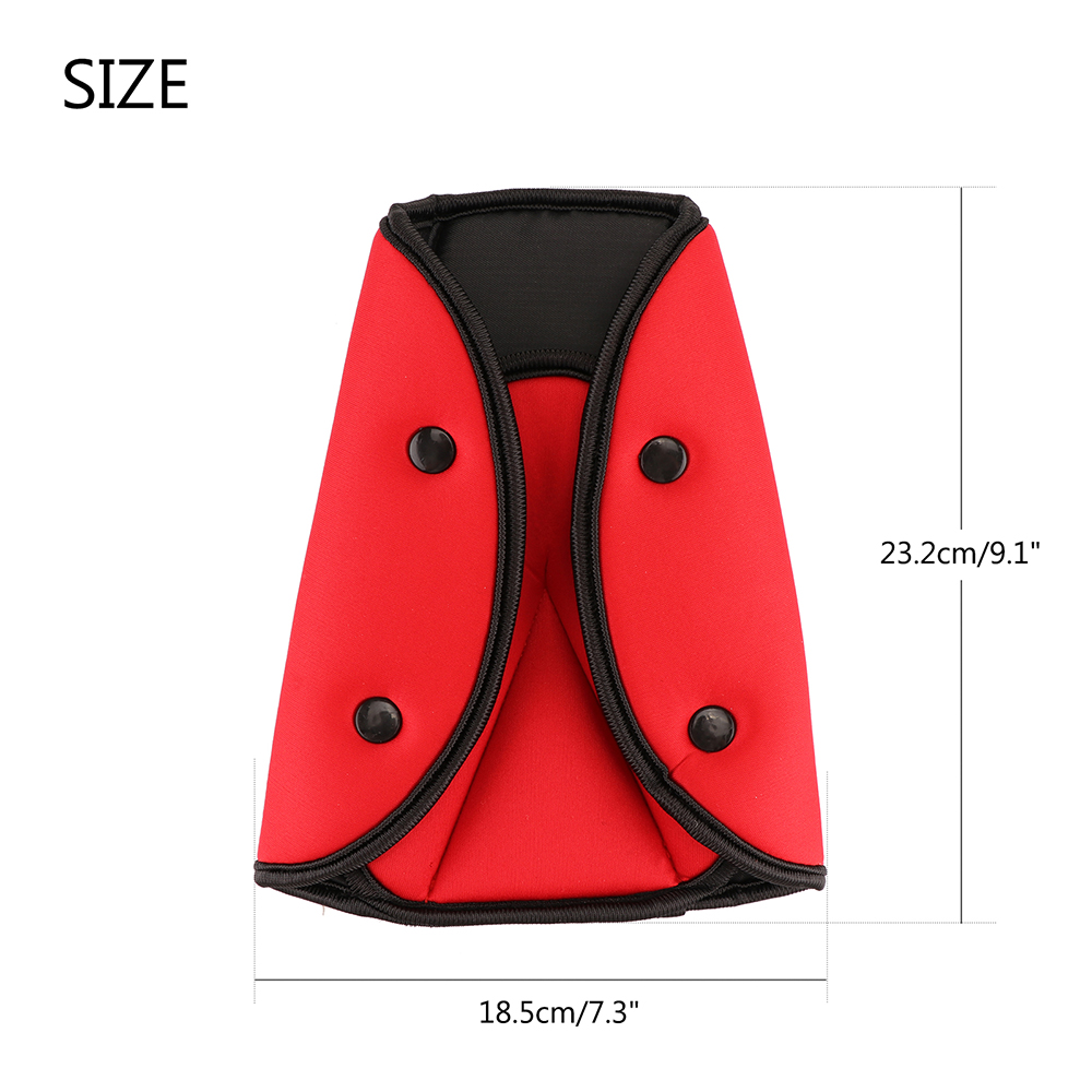 Image 2 - Onever Car Triangle Safety Belt Fixator Cover Pad for Baby Kid Seat Belt Adjuster Child Neck Shoulder Harness Strip Protector-in Seat Belts & Padding from Automobiles & Motorcycles
