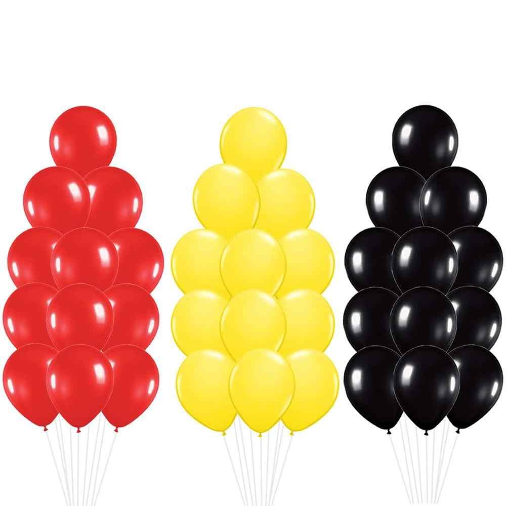 30 Pcเมาส์สีชุดบอลลูน-สีแดง,สีเหลือง,ลูกโป่งสีดำเด็กของขวัญตกแต่งGlobosอุปกรณ์