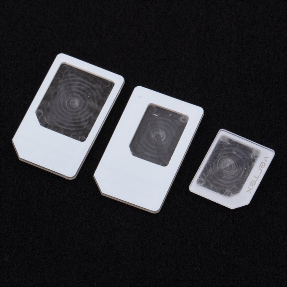 3 Pcs For Nano SIM For Micro Standard Card Adapter Tray Holder Adapters For IPhone 5 Free / Drop Shipping