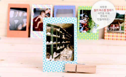 20 pçs/set Álbuns de Fotos DIY Scrapbook Papel Decorativo Fotos Quadro Para Mini Instax Filme Decoração Da Sua Casa