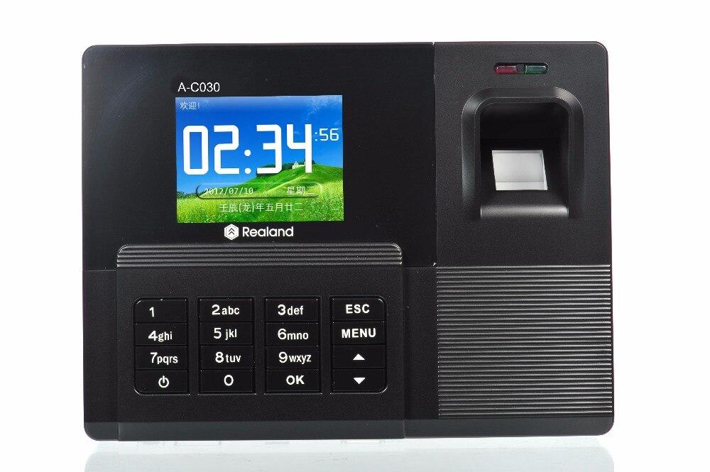 Système de contrôle d'accès de préposé au temps de carte d'empreinte digitale/mot de passe/RFID d'écran de couleur de TFT de 2.8 pouces