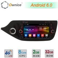 "8 ""4G WIFI Android 6.0 Octa Core 2 GB RAM 32 GB ROM DAB USB Coche Radio Stereo Reproductor de DVD Para Kia CEED 2012 2013 2014 2015 2016 2017"