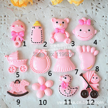 100PCS Mixed kawaii diy resin baby shower party favors