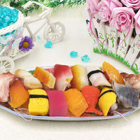Japanese Food Sushi Artificial Foods Toys Keychain Fake Simulated Foods Party Home Office Bread Shop Decoration