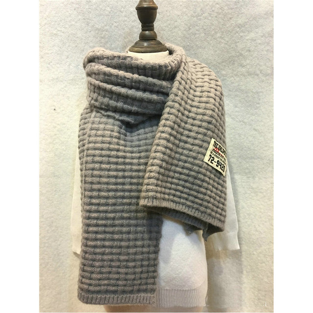 Neue Frauen Weben Muster Schal Solide Grid Plaid Wrap Acryl Wolle ...