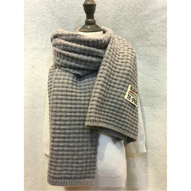 New Women Weaving Pattern Scarf Solid Grid Plaid Wrap Acrylic Wool ...