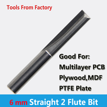 1pc 3.175mm SHK Two Flutes Straight Carving Tools Double Flutes CNC Router Bits Straight Engraving Cutters