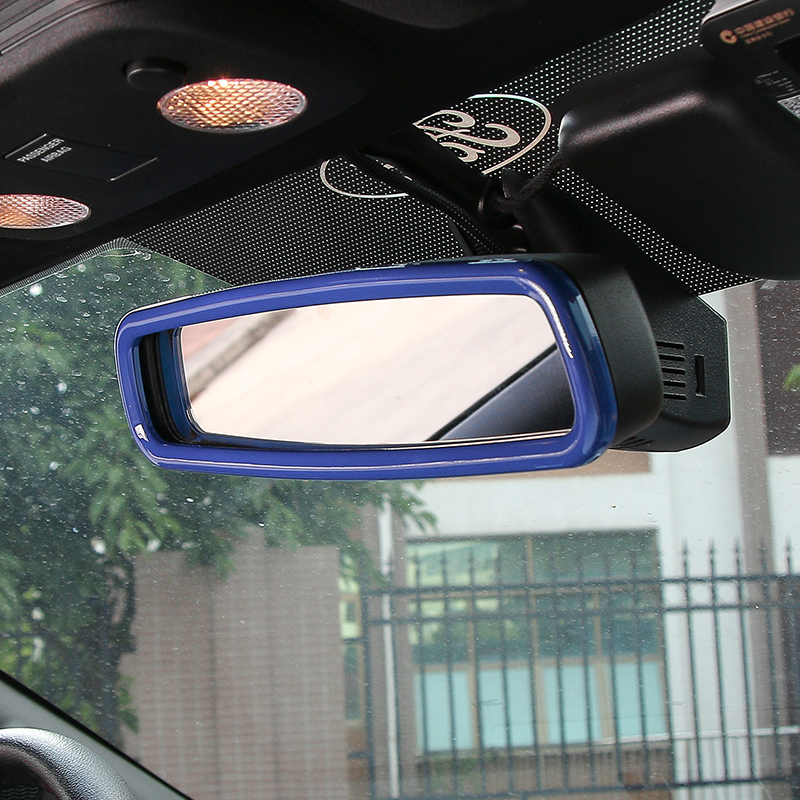 SHINEKA Car Styling Rearview Mirror Decorative Cover Trim Ring Frame for Ford Mustang 2015 Interior Accessories in Interior Mouldings from Automobiles Motorcycles