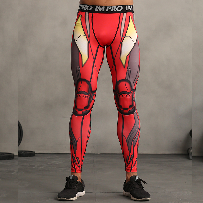 Red Iron Man 3D Pants Men Superheros Skin Tights Compression Legging Skinny Bodybuilding Fitness Mens Trousers Crossfit Pants