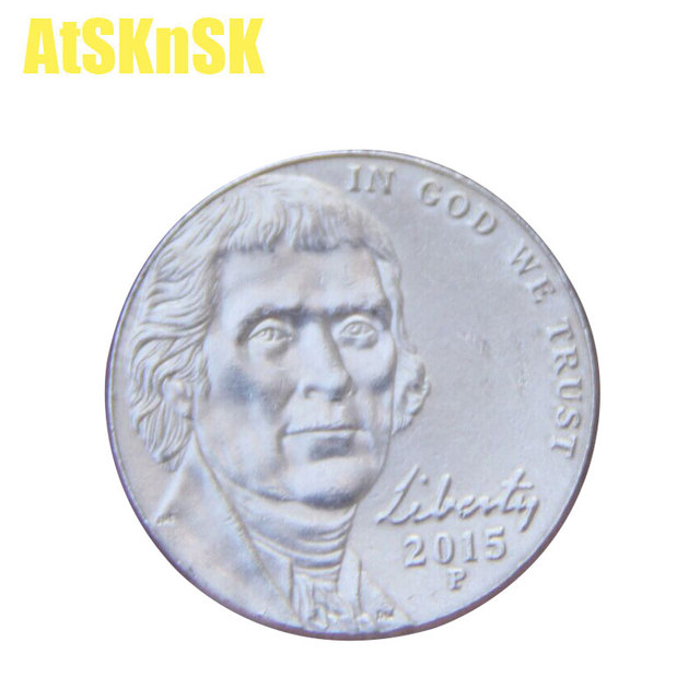 Atsknsk 215mm Jefferson Nickel 5 Cent Münze Collectibles Medaille