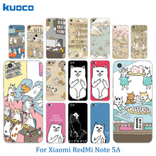 TPU Case For Xiaomi Redmi Note 5A Cover Soft Silicone Luxury Cats Family Pattern Phone Cover for Hongmi Note 5A Cases Capas