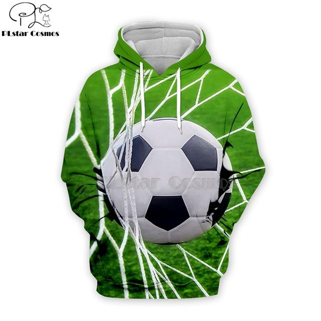 PLstar Cosmos sport footballs 3D Print Hoodies/Sweatshirt/Jacket/shirts Tees Men Women Galaxy Unisex streetwear Drop shipping-4