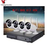 YobangSecurity 4CH Thuis CCTV Camera Systemen 720 P NVR Recorder 4x1.0 MP Draadloze WIFI Security Camera Outdoor IR LED Nachtzicht