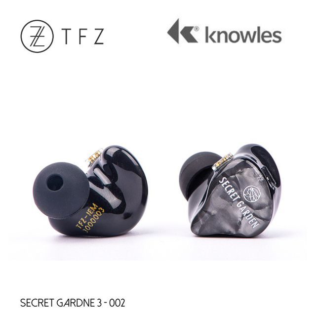 TFZ SECRET GARDEN 3 HiFi 3*Knowles Dynamic + Balanced Armature Hybrid driver In-ear earphone with 2Pin/0.78mm Detachable IEM 2