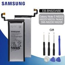 Original Battery For SAMSUNG N920 EB-BN920ABE 3000mAh For Samsung Galaxy Note5 N9200 N920T N920C N9208 Replacement Phone Battery oem для samsung galaxy note5 sm n920 n920 объем кабель гибкого трубопровода кнопки для samsung galaxy note5 sm n920