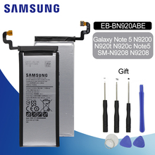 SAMSUNG Spare Phone Battery EB-BN920ABE For Samsung GALAXY Note 5 N9200 N920t N920c Note5 SM-N9208 N9208 3000mAh аккумулятор для телефона craftmann eb bn920abe для samsung galaxy note 5 sm n920c sm n9200