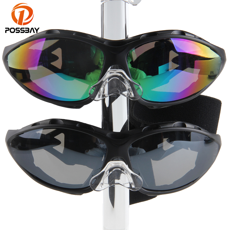 POSSBAY Oculos Motocross Goggles Windproof Skiing Skating Goggles Motorbike Cafe Racer Goggles Adult Outdoor Dustproof Glasses