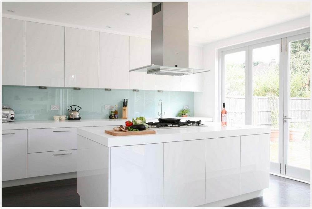 2017 New Design 2pac Kitchen Door With Pencil Edge Modern Modular Kitchen  Cabinets Customised White Kitchen