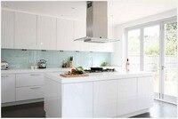 2017 new design 2pac kitchen door with pencil edge modern modular kitchen cabinets customised white kitchen furnitures