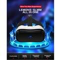 High-end 3 d óculos de realidade virtual imersiva capacete HDMI wifi bluetooth VR filme para estimular a máquina de Jogo Pode cartão da inserção