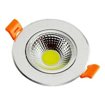 LED COB Ceiling light  Silver body 3W 5W 7W 10W COB Chip  Spot Light Lampm LED Recessed Ceiling light  Household lighting