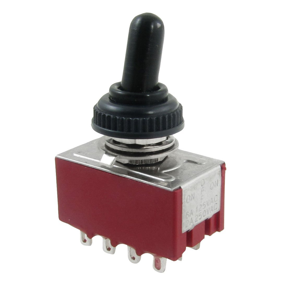 MYLB-AC 250V 2A 125V 6A on/off/on 4PDT Toggle Switch with Waterproof Boot image