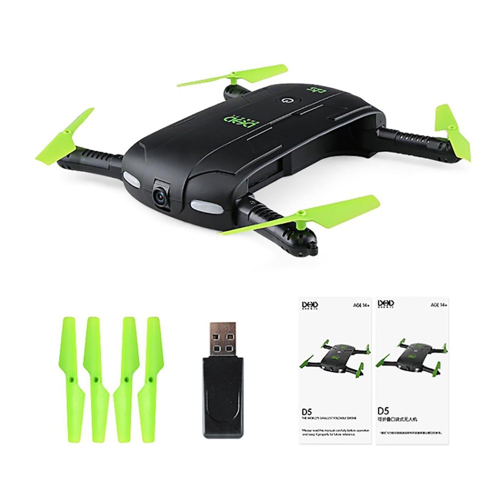 2017 Nuovo Mini Tasca Pieghevole RC Drone Dron WiFi FPV 0.3MP Droni fotocamera G-sensor Modalità Waypoint RC Quadcopter VS JJRC H37 523