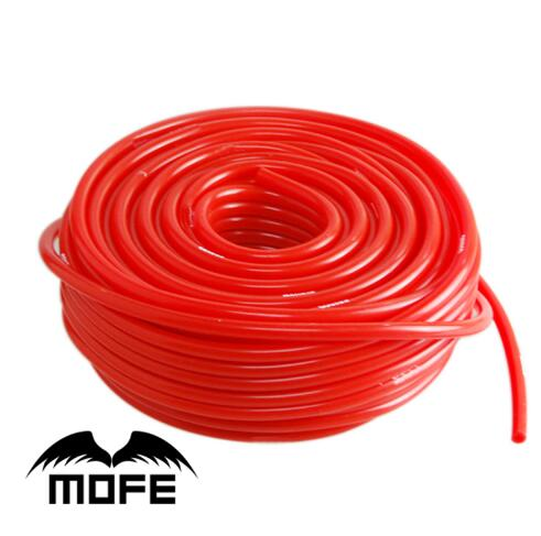MOFE 5M Length 3mm/4mm/6mm/8mm Vacuum Silicone Hose Intercooler Coupler Pipe Turbo Red