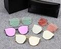 2017 Moda Type2 Oceano Lense óculos de sol Dos Homens Das Mulheres Do Vintage Suave meia armação Óculos De Sol Estilo Retro V Logotipo E Caixa Original