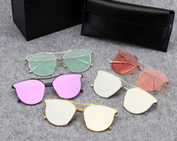 2017 Fashion Type2 Ocean Lense Sunglasses Vintage Women Men Gentle Half Frame Sunglasses Retro Style V