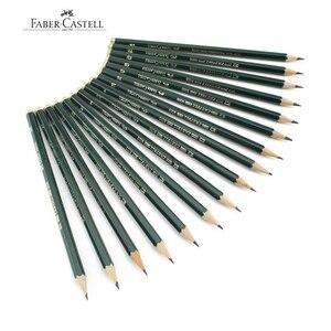 Image 1 - Faber castell 12 Pcs מותג (6H 8B) סקיצה ציור עיפרון אישית סטנדרטי עפרונות שחור ציור עיפרון