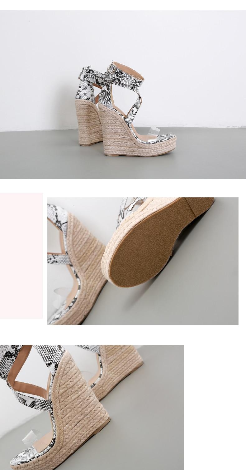 HTB1GA6lP4jaK1RjSZFAq6zdLFXa5 Eilyken Summer Women Platform Sandals Gladiator Fashion High heels Wedges Espadrilles shoes Ladies Open toe Sandals Serpentine
