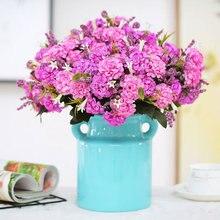 6cm 10 flower head chrysanthemum Autumn fake rose silk artificial for wedding diy Party decoration home room decor