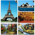 1500 pcs jigsaw puzzle landscape paper, education and learning, Great painting image, gift for friends children children m93