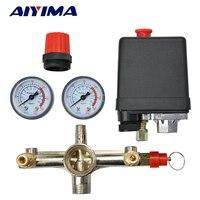 Pressure Switch Air Compressor Valve Single Hole Relief Regulator Pressure Switch Stand Gauges